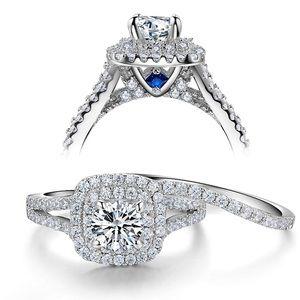 *NEW* White Sapphire Diamond 2 piece bridal set